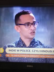 Jay, Indian, in his first television show appearance in Poland